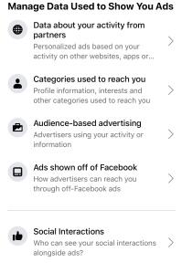 Eliminate targeted Facebook ads